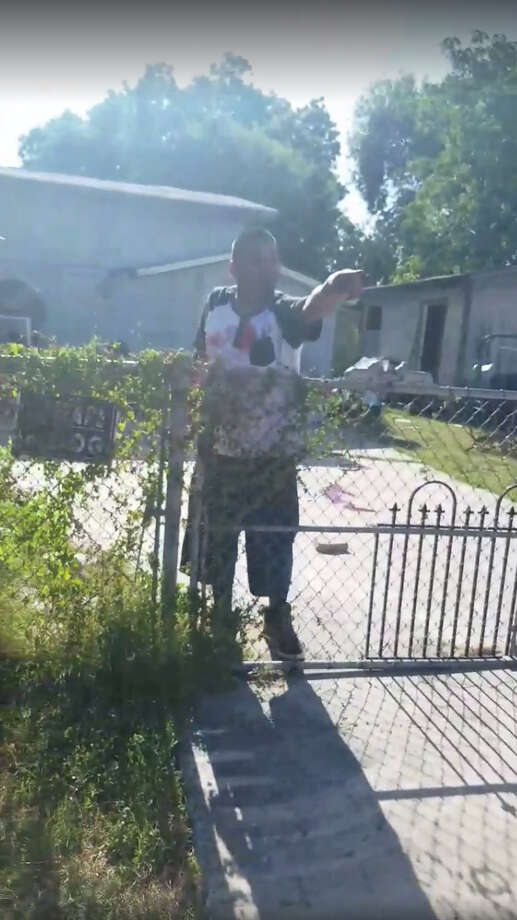 A graphic video making the rounds on social media appears to show the aftermath of what police say was a knife-throwing fight between two men at a home on the South Side. Photo: Screengrab Via Facebook