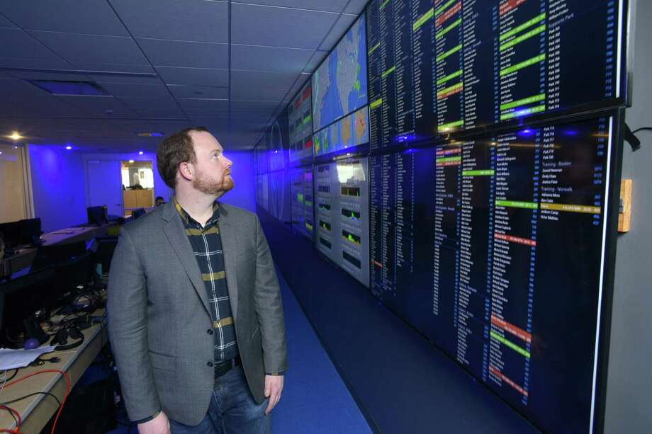 Datto CEO Austin McChord in January 2016 at his company's headquarters in Norwalk, Conn. Photo: Matthew Brown / Hearst Connecticut Media / Stamford Advocate