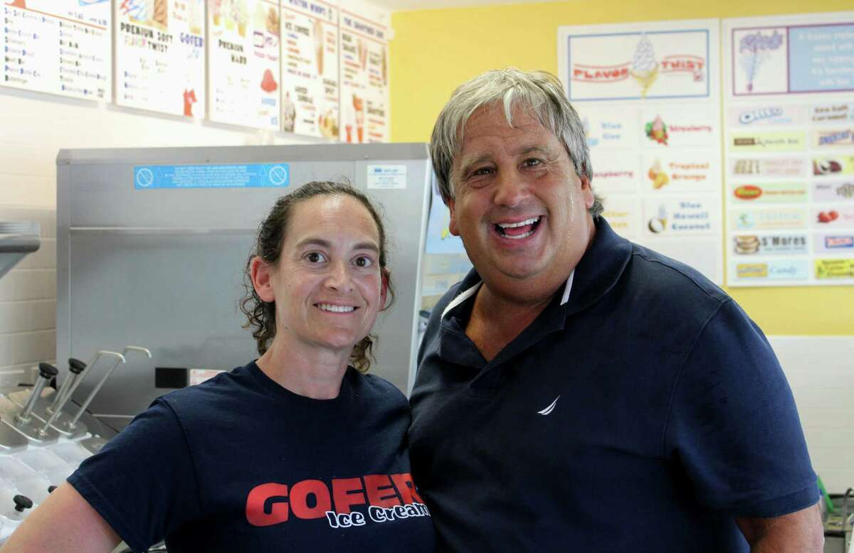 Dina and Jordan Savitt, of Stamford, are the franchisees of Gofer Ice Cream's fifth location in Wilton at 379 Danbury Road.