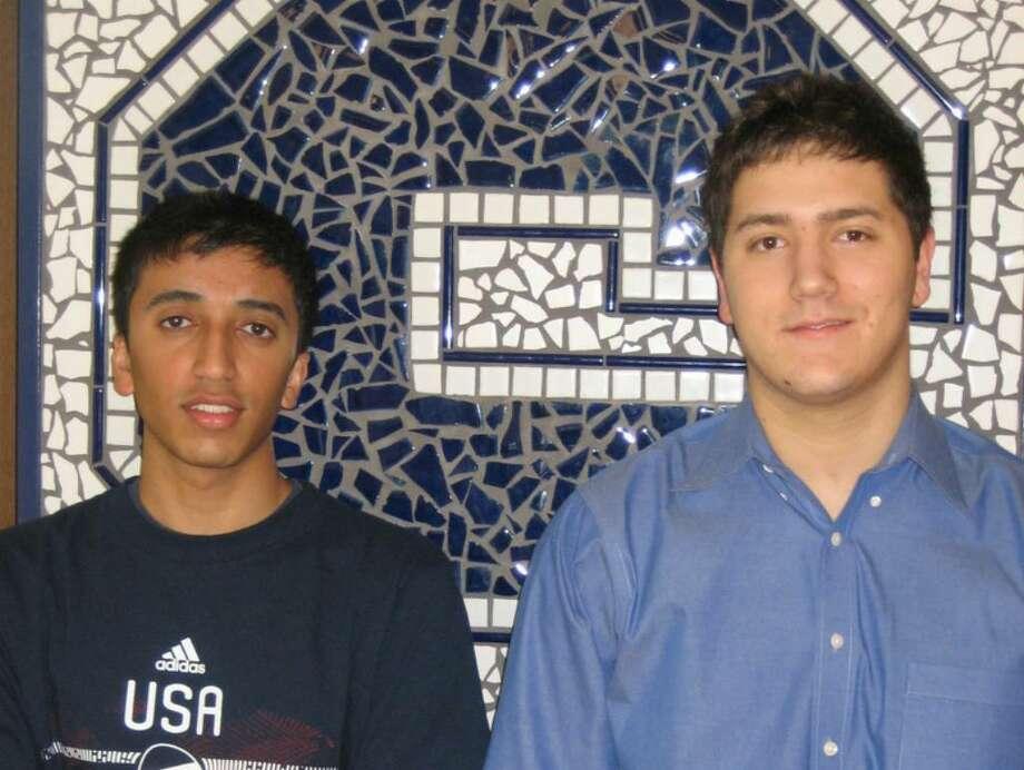 Naveen Murali, left, the valedictorian, and Morgan Patrick, the salutatorian, of the Staples High School Class of 2010. Photo: Contributed Photo / Westport News