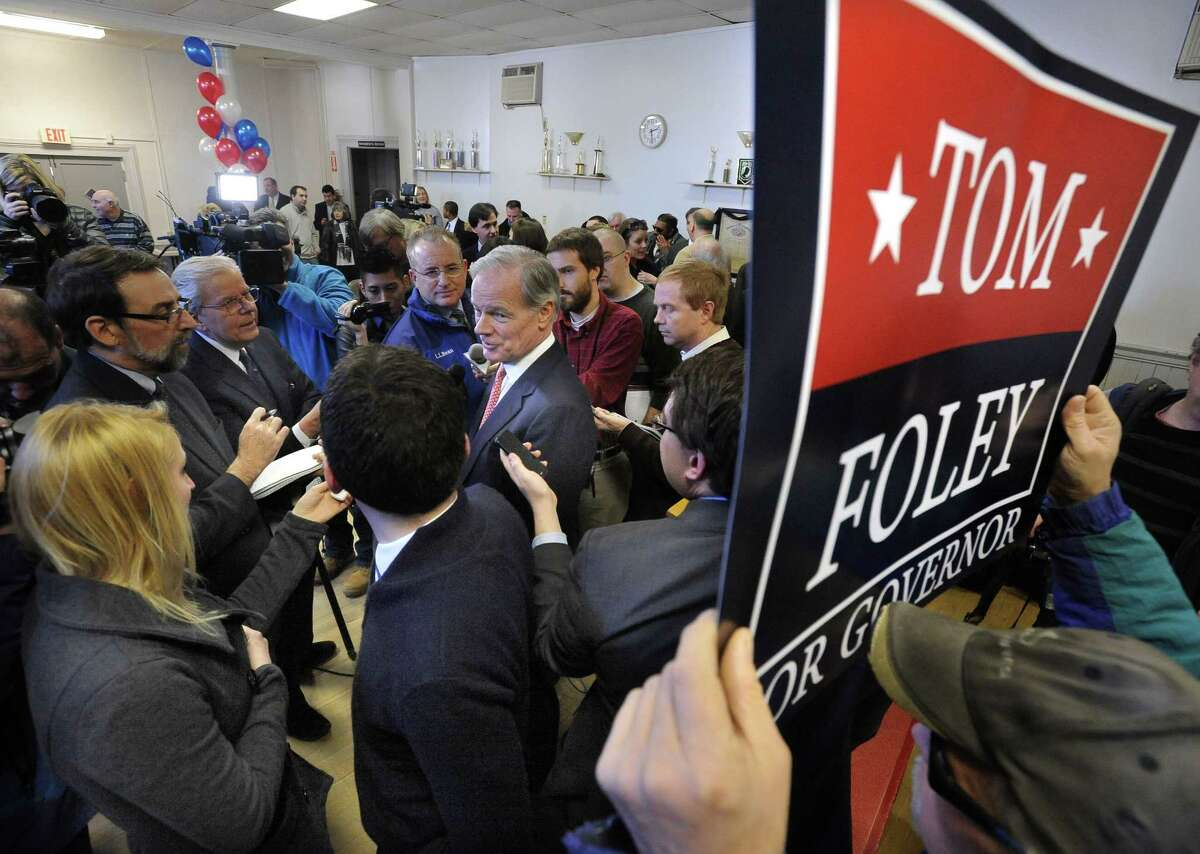 (Mara Lavitt - New Haven Register) January 29, 2014 Waterbury Tom Foley of Greenwich announced he would run for the Republican nominee for governor, at the Wheeler Young VFW Post 201 in Waterbury.