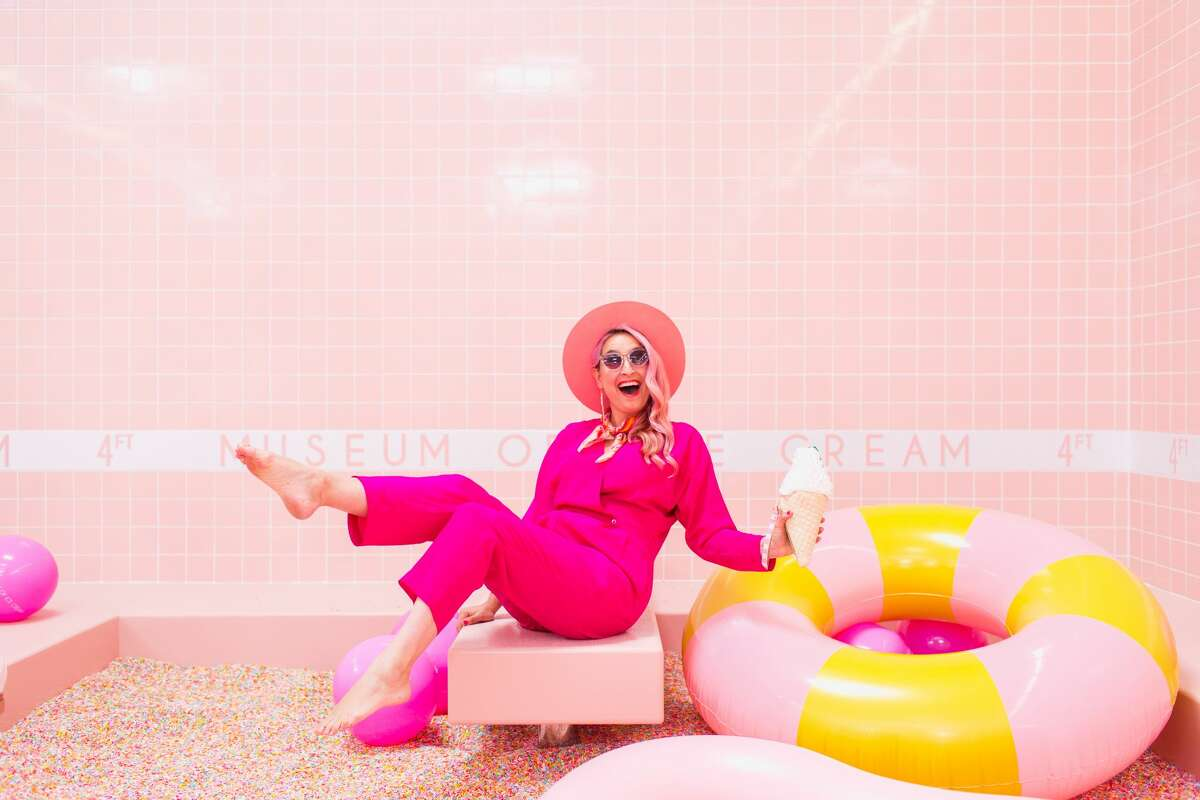 Scenes from the Museum of Ice Cream in Los Angeles, CA. The colorful pop-up exhibit will be coming to1 Grant Ave in San Francisco, and is expected to open in September.