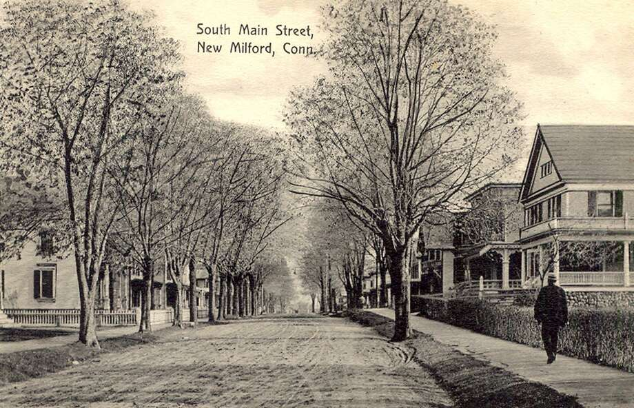 "This turn-of-the-century postcard photo by P.M. Cassidy depicts South Main Street in New Milford, looking south. If you have a ""Way Back When"" photograph you'd like to share, contact Deborah Rose at drose@newstimes.com or 860-355-7324. Photo: Courtesy Of Helen Cherney / The News-Times Contributed"