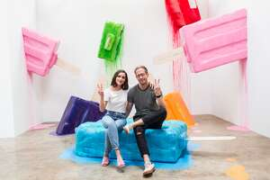 Scenes from the Museum of Ice Cream in Los Angeles, CA. The colorful pop-up exhibit will be coming to 1 Grant Ave in San Francisco, and is expected to open in September.