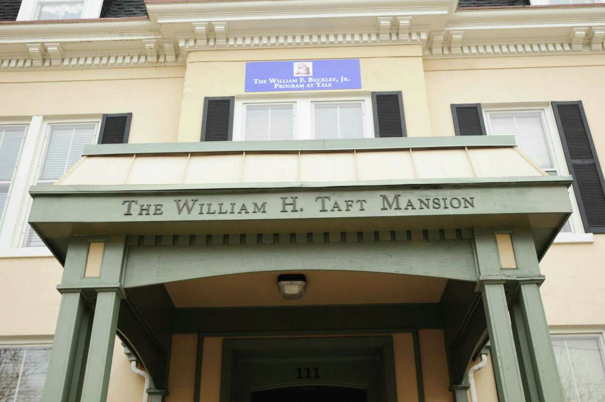 (Peter Hvizdak - New Haven Register) The new home of the William F. Buckley Jr. Program at Yale, on 111 Whitney Avenue in New Haven, wants to be a center of conservative thought for Yale students and faculty. The building used to be the home of William Howard Taft. March 25, 2014.