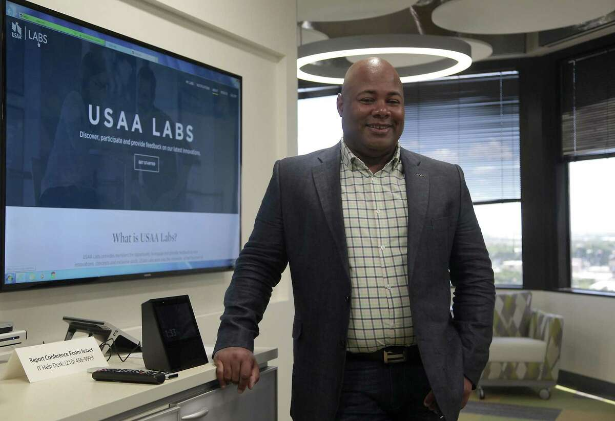 Assistant vice president of the USAA labs, Darrius Jones, talks about their new Alexa feature, which helps the customer learn about their financial statements, earnings and spending.