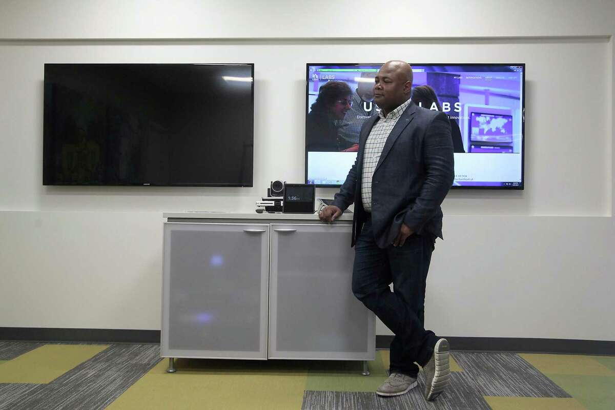 Assistant vice president of the USAA labs, Darrius Jones, talks about the company's latest pilot program. The new technology allows customers to access their accounts via voice command, using artificial intelligence to help analyze their spending habits and suggest better uses of their money.