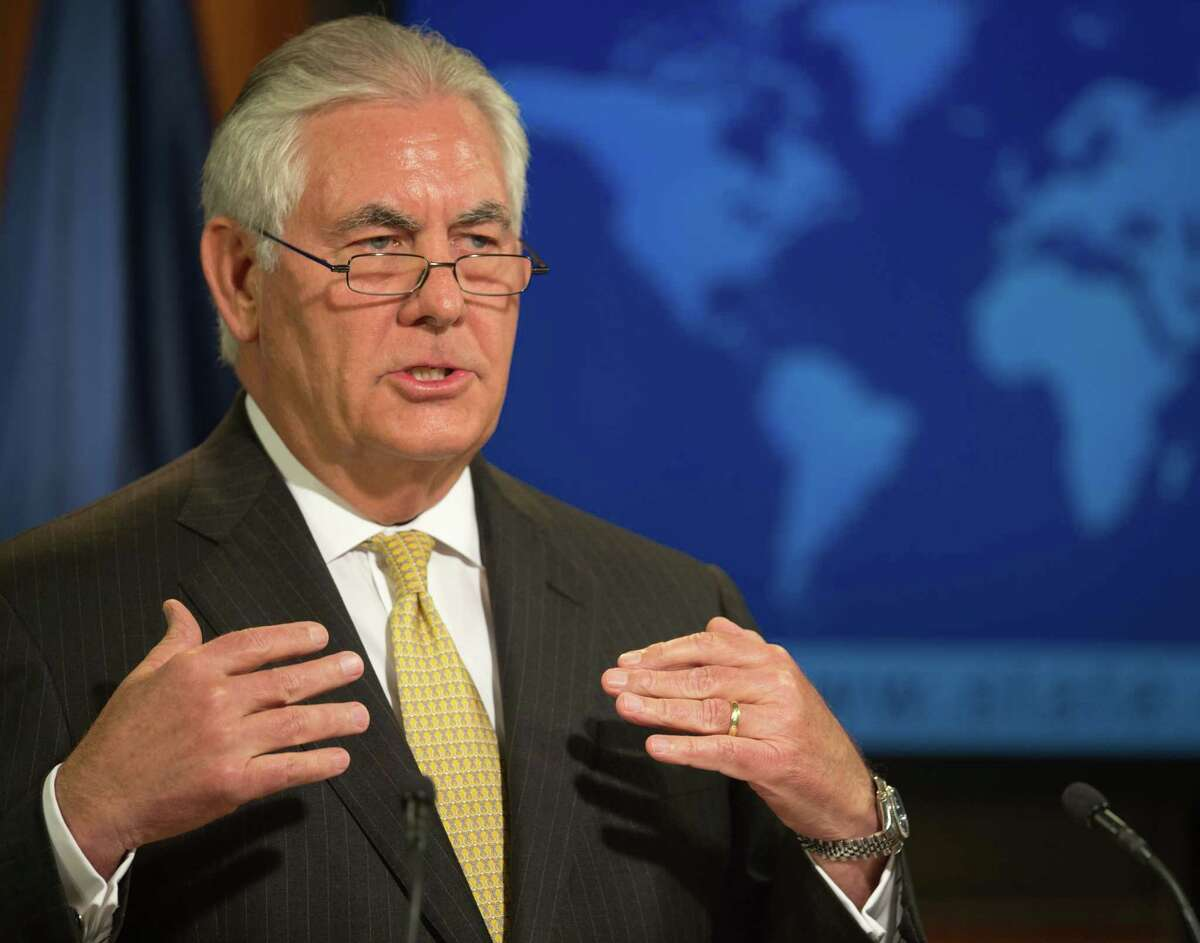 US Secretary of State Rex Tillerson delivers remarks August 1, 2017, from the briefing room of the US State Department in Washington, DC. / AFP PHOTO / PAUL J. RICHARDSPAUL J. RICHARDS/AFP/Getty Images