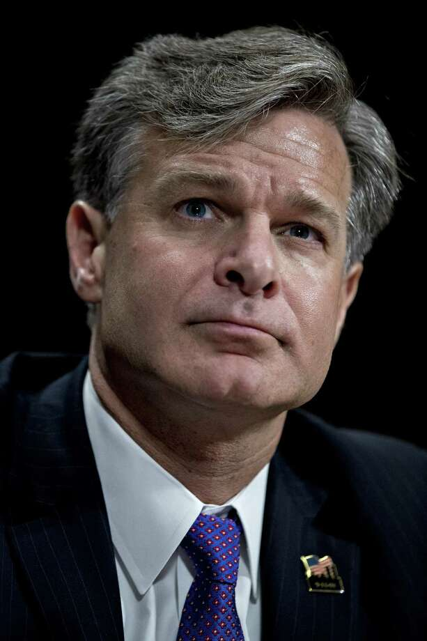 Christopher Wray, director of the Federal Bureau of Investigation (FBI) nominee for U.S. President Donald Trump, listens during a Senate Judiciary Committee nomination hearing in Washington, D.C., U.S., on Wednesday, July 12, 2017. Wray pledged strict independence if confirmed to head the FBI, as senators focused on his ability to pursue investigations independently amid revelations about a meeting the president's son held with a Russian lawyer during last years campaign. Photographer: Andrew Harrer/Bloomberg ORG XMIT: 775005931 Photo: Andrew Harrer / © 2017 Bloomberg Finance LP