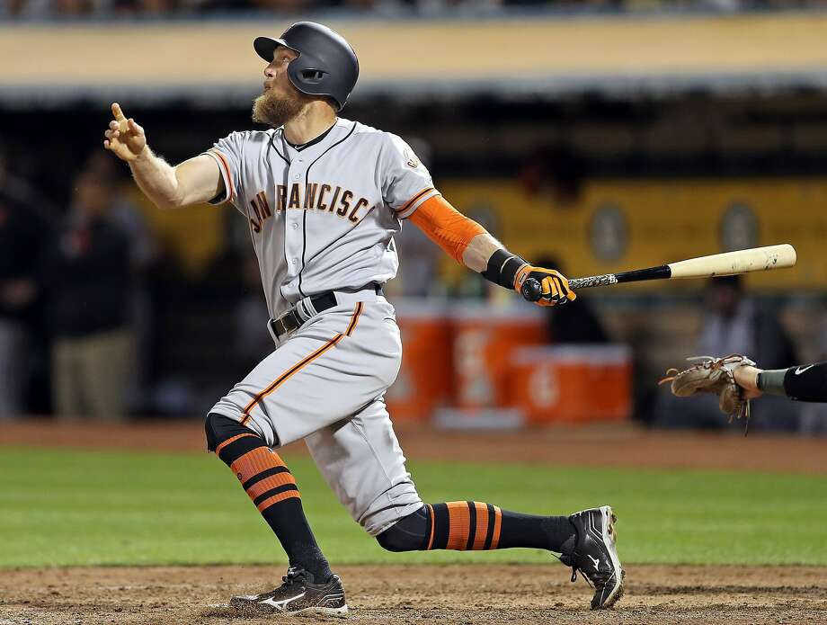 promo code 3bd6c c0f31 Giants smash 3 homers in win over A's - San Antonio Express-News