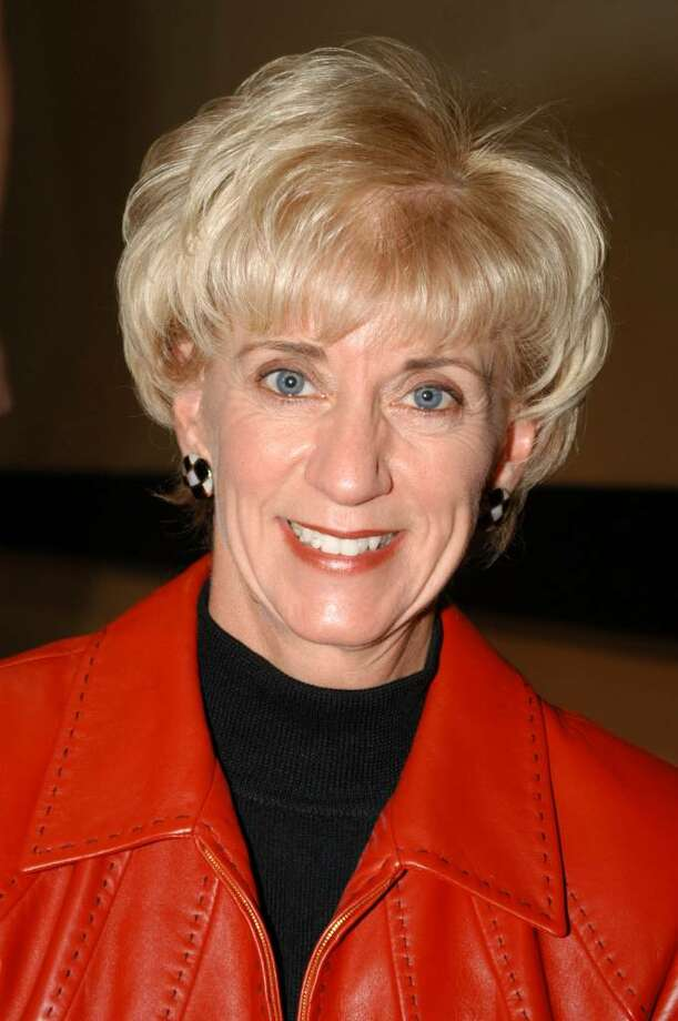 "World Wrestling Entertainment (WWE) CEO Linda McMahon participates in the ""Professor For A Day"" event at Nassau Community College March 3, 2003 in Garden City, New York. McMahon who lectured a group of sports marketing majors on the marketing and promotional strategies that have made the WWE a long-term success.  (Photo By Steven Henry/Getty Images) Photo: Steven Henry, Getty Images / 2003 Getty Images"