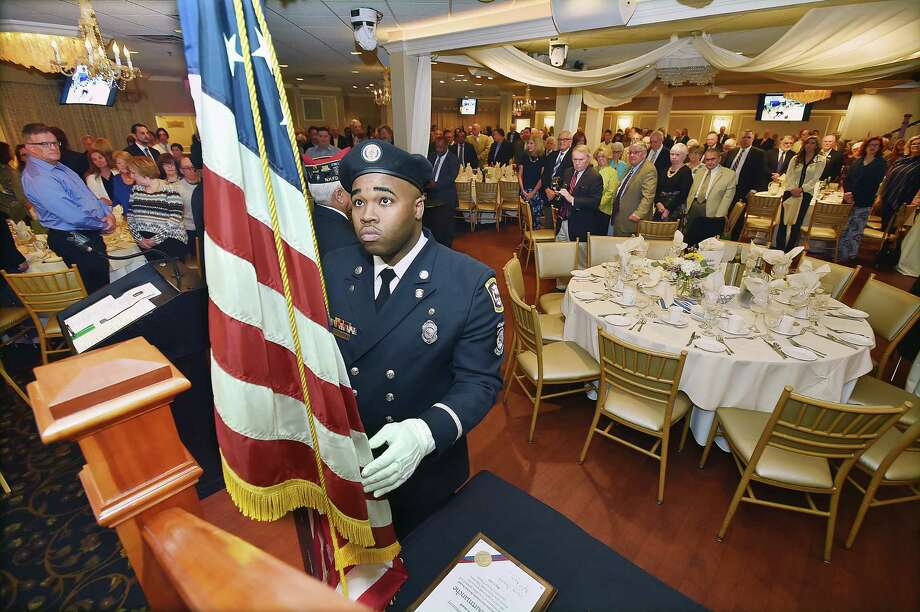 John Courtmanche, a former New Haven Public Schools principal and New Haven Firefighters Local 825 were honored at the Farm Neighborhood House 17th annual awards dinner, Tuesday, May 9, 2017, at Anthony's Ocean View in New Haven. (Catherine Avalone - New Haven Register) Photo: Catherine Avalone, Catherine Avalone/New Haven Register / Catherine Avalone/New Haven Register
