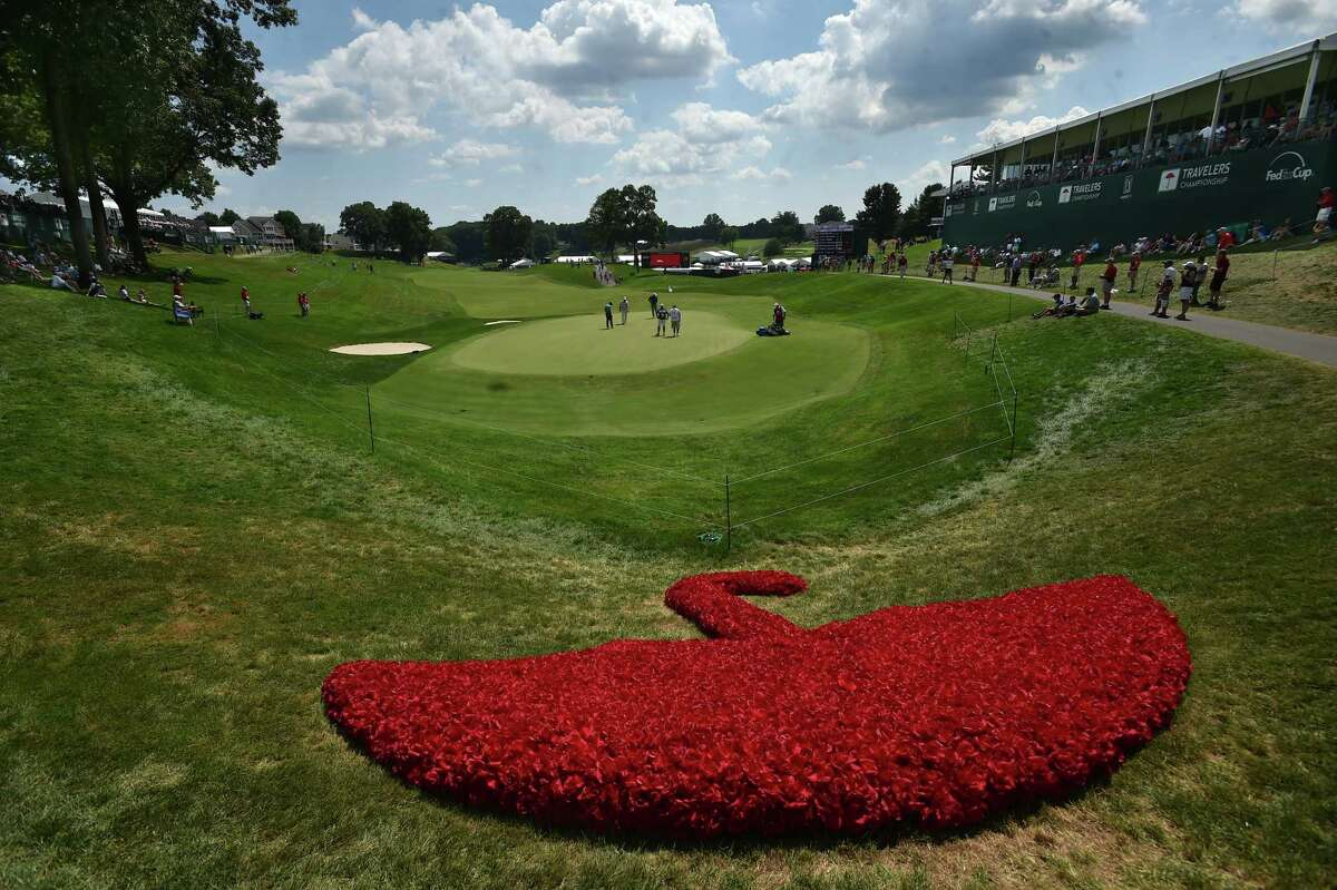 Second-round action, Friday, August 5, 2016, at the 2016 Travelers Championship at TPC River Highlands in Cromwell. (Catherine Avalone/New Haven Register)