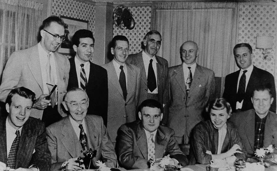 1956 - Newsroom staff at The Middletown Press. (Middletown Press archives) / Copyright 2002
