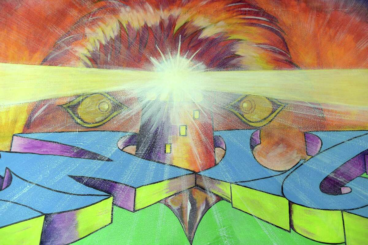 (Peter Hvizdak - New Haven Register) New Light School mural, New Haven, Conn. Tuesday, January 20, 2015.