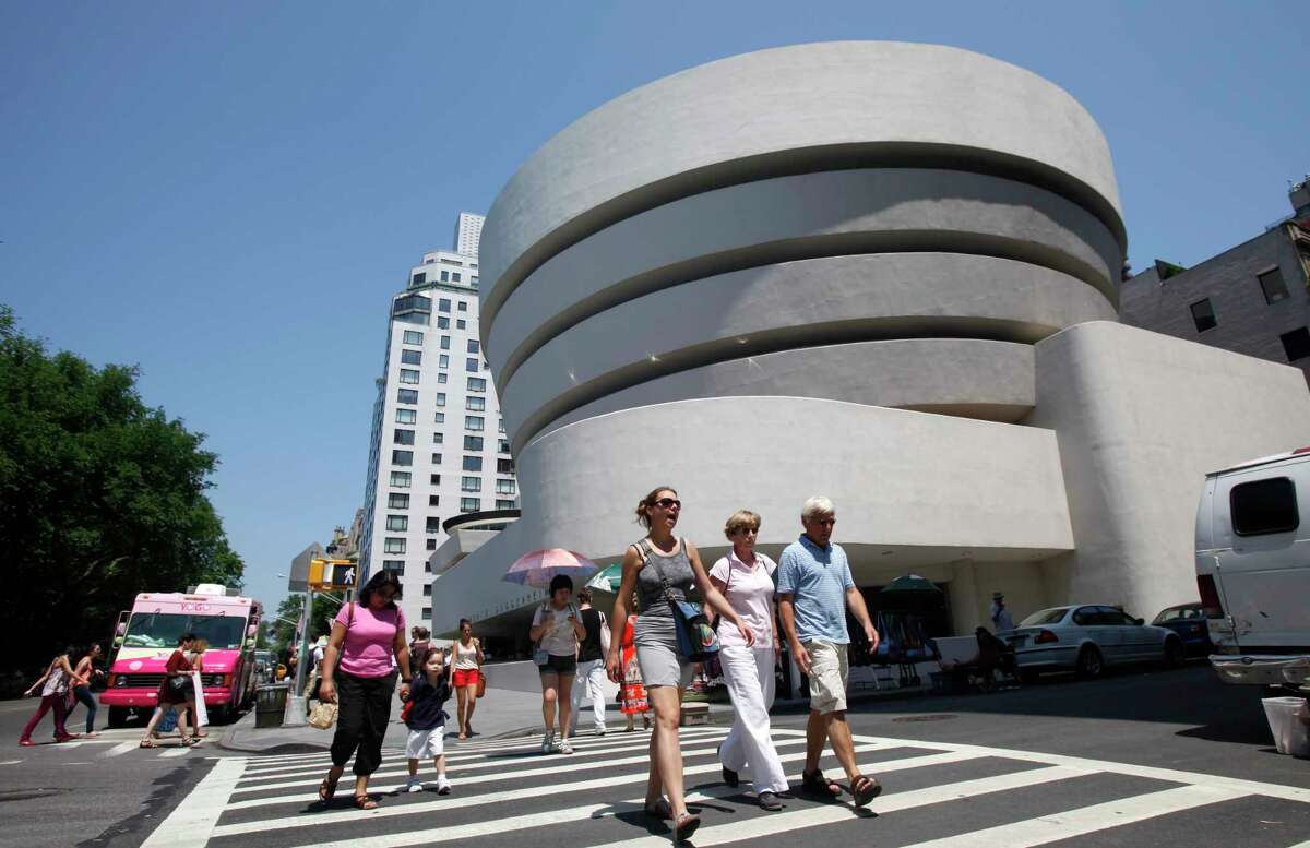 The exterior of the recently restored Solomon R. Guggenheim Museum is shown in New York, Tuesday, May 31, 2011. The Guggenheim was designed by architect Frank Lloyd Wright and built from 1956-1959.