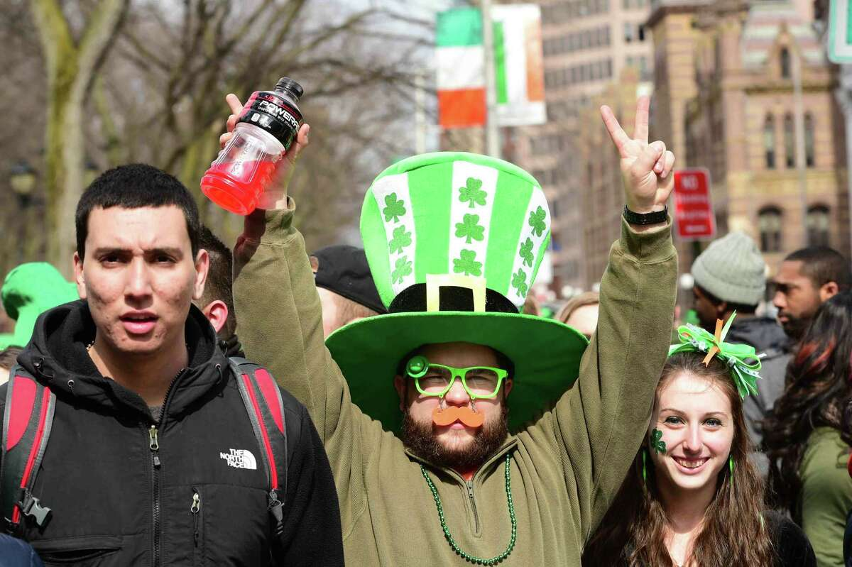 (Peter Hvizdak - New Haven Register) New Haven St. Patrick's Day Parade, 2015 Edition, New Haven, Connecticut, Sunday, March 15, 2015.