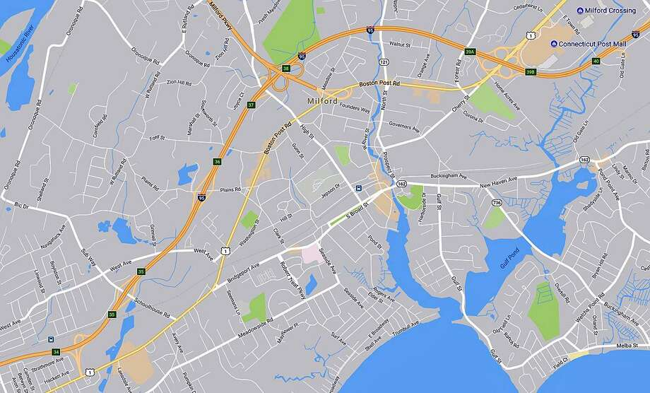 Maintenance of six I-95 bridges in Milford will mean overnight lane closures through Friday, Aug. 11, 2017. Lane closures are expected in both directions between Exits 34 and 40. Photo: Google Maps