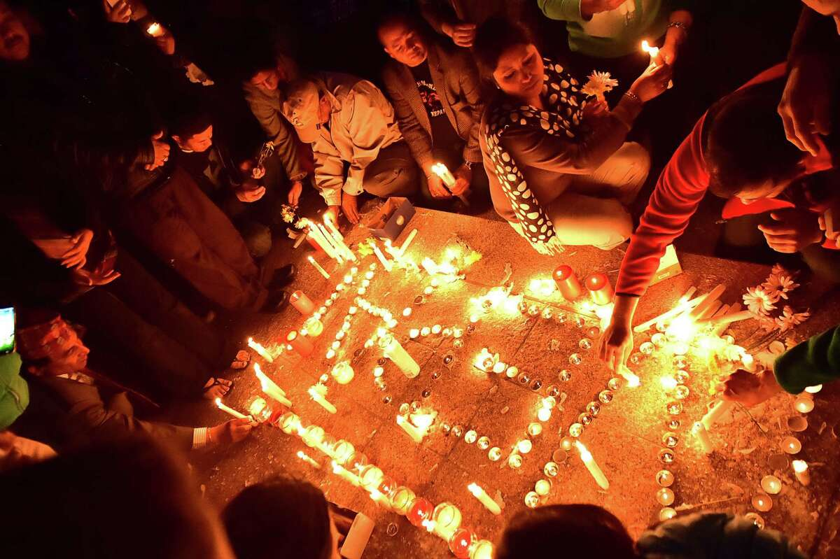 The Society of Nepalese in America held a candlelight vigil,