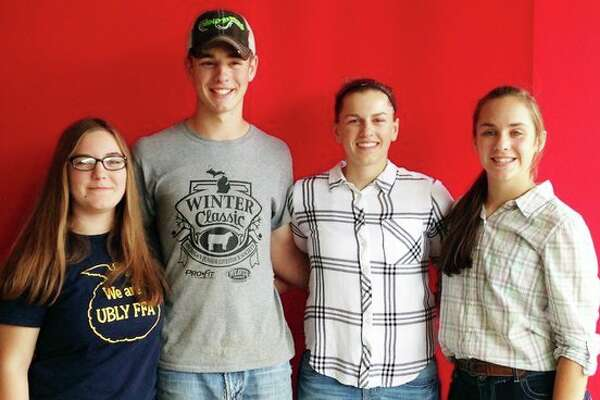 State Dairy Judging Champion Team (right to left): Amber Essenmacher, Nolan Murray, Bethany Gornowicz and Haili Gusa. (Submitted Photo)