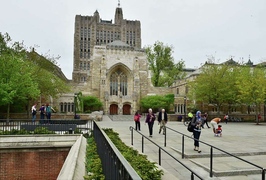 The Sterling Memorial Library at Yale University, New Haven, Conn., Saturday, May 9, 2015. (Catherine Avalone/New Haven Register) Photo: Catherine Avalone / New Haven RegisterThe Middletown Press