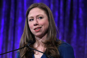 NEW YORK, NY - MAY 04: Chelsea Clinton speaks during the 2017 Women's Refugee Commission Voices Of Courage Awards at Cipriani 42nd Street on May 4, 2017 in New York City. (Photo by John Lamparski/Getty Images)