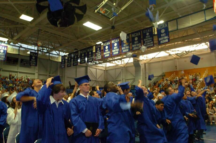 Students and family attend the Henry Abbott Technical High School graduation at the O'Neill Center on Western Connecticut State University's campus in Danbury, June 15, 2010. Photo: Chris Ware / The News-Times