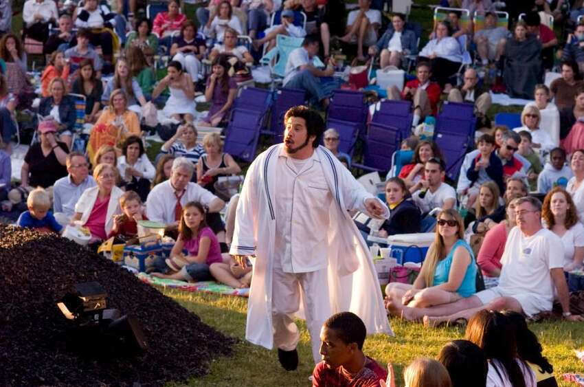 Triney Sandoval plays Brabantio during the opening night of Shakespeare on the Sound's presentation of Othello at Pinkney Park in Rowayton Tuesday June 15, 2010. Shows start at 730pm and continue through June 26 with no Monday performances.