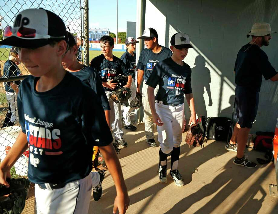 McAllister Park comes in for a break last month during preparation in San Antonio for the Southwestern Regional tournament in Waco. The boys are one game away from the team's fourth Little League World Series. Photo: Ron Cortes /For The San Antonio Express-News / Freelance