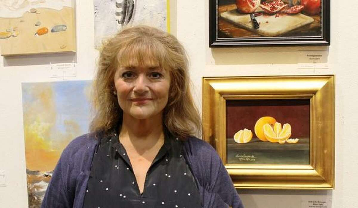 Aurora Campanella at Wilton Library's 73rd annual Wilton Artists' Summer Show, which opened July 14, 2017, and runs through Aug. 23, 2017.