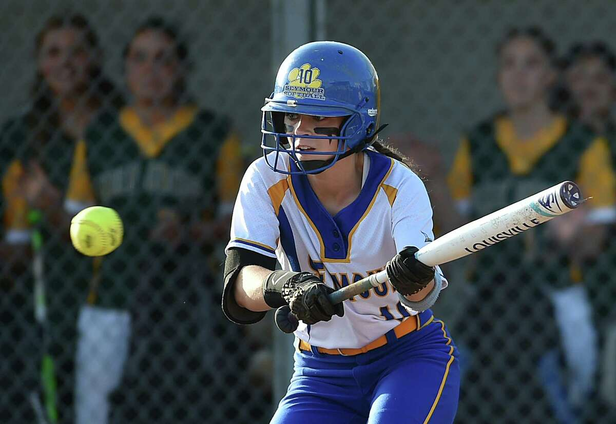Seymour defeats Holy Cross, 2-1, in the NVL championship game, Wednesday, May 24, 2017, at Davis-Pereiras Softball Field at Seymour High School. (Catherine Avalone - New Haven Register)