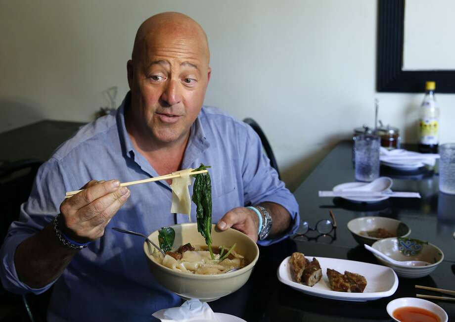 """San Francisco is a pleasure palace,"" said celebrity chef Andrew Zimmern on the fifth episode of his new show, ""The Zimern List."" Especially, he continued, ""if you love food."" Zimmern touched down in San Francisco last August to sample some of the city's best eats. The episode aired at the end of March.Keep clicking through the slideshow to see what Zimmern ate during his stay.  Photo: Kathy Willens, Associated Press"