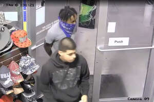 Watch: Video captures Greenspoint armed robbery suspects stickup gas station, steal lottery tickets - Photo