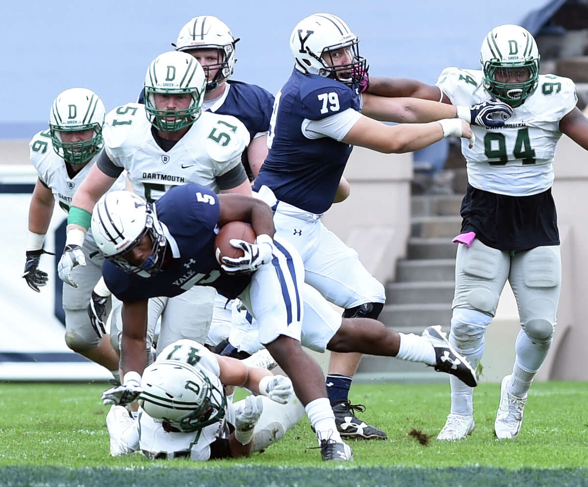 Action from the Yale vs. Dartmouth football game at Yale Bowl on 10/8/2016. Photo by Arnold Gold/New Haven Register agold@newhavenregister.com
