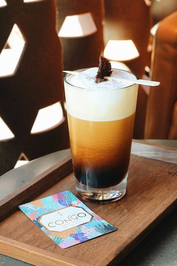 The latest exclusive Roastery beverage: a Pepper Nitro with a Jerky Twist. Photo: Starbucks