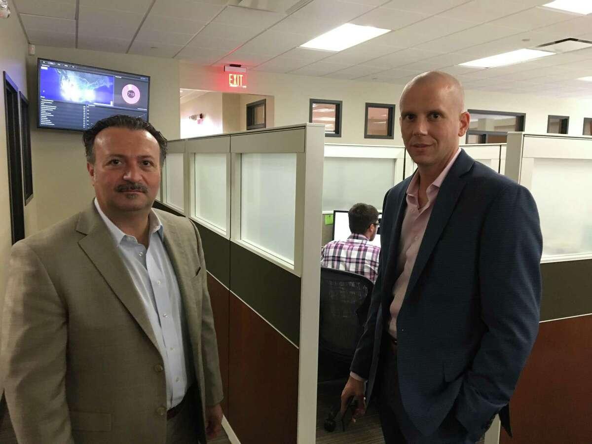 Antonio Civitella, left, CEO of Transfinder with his chief operating officer, Joseph Messia.