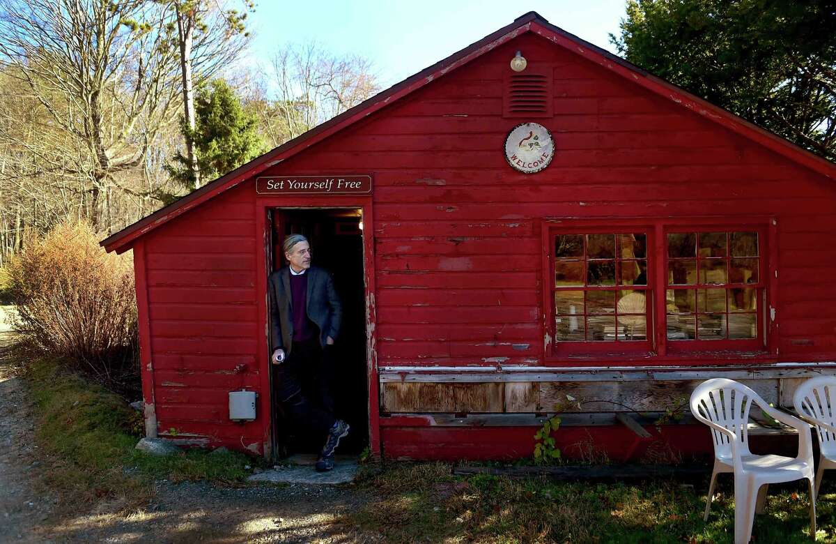 (Peter Hvizdak - New Haven Register) New Haven attorney Norm Pattis, owner of Whitlock's Book Barn bookstore in Bethany Wednesday, November 23, 2016 at the book barn.