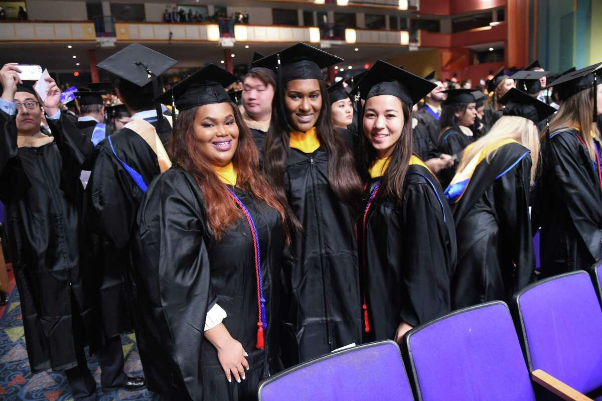 The University of New Haven winter commencement exercises at Toyota Presents Oakdale Theatre in Wallingford on 12/18/2016. Photo by Arnold Gold/New Haven Register agold@newhavenregister.com