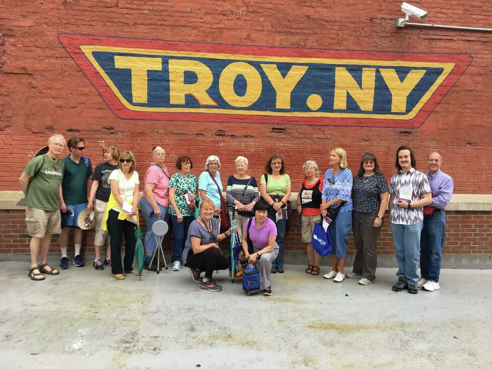Scenes from the Taste of Troy Food Tour, which takes place Saturdays through the end of October.