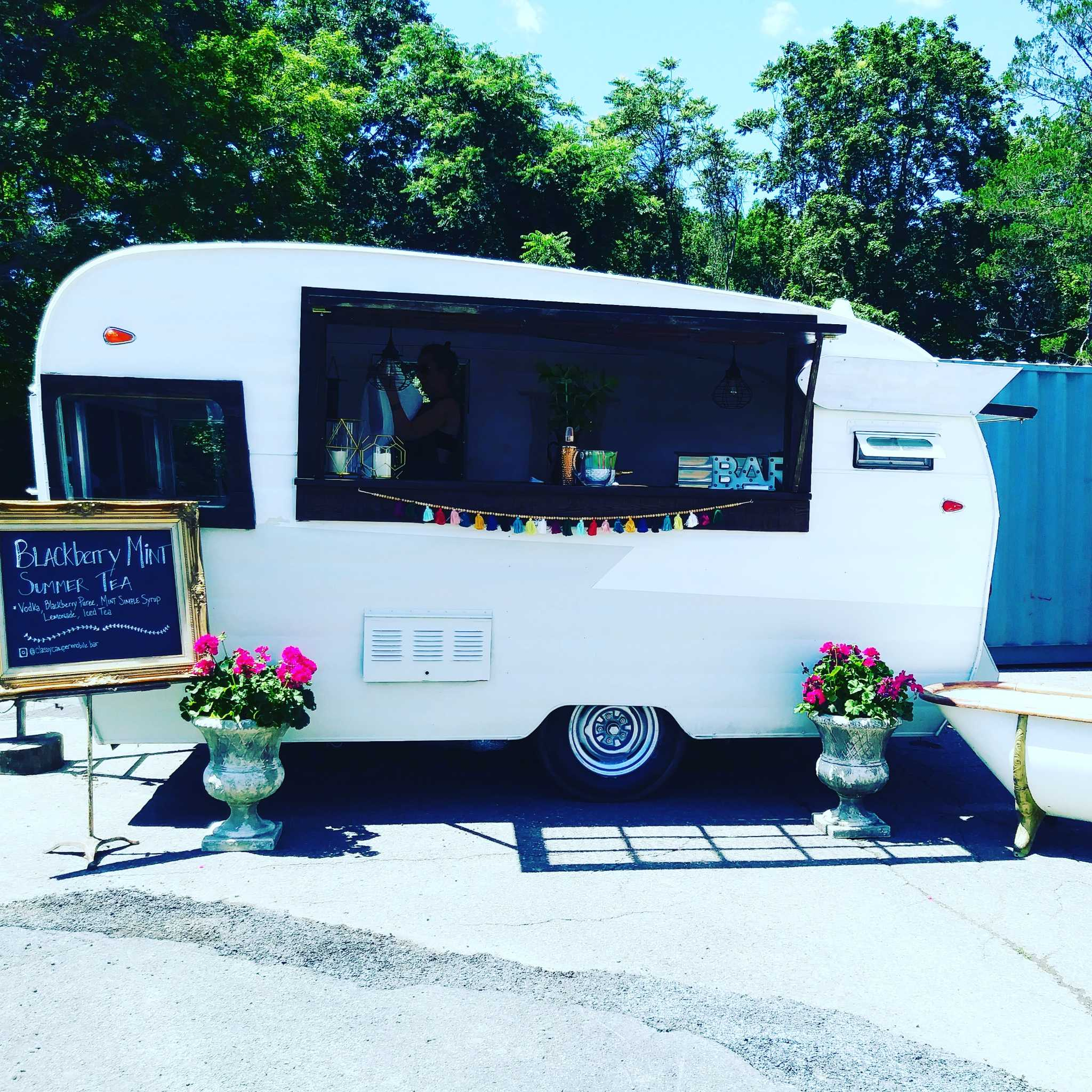 Area's moveable bars are actually converted campers - Times