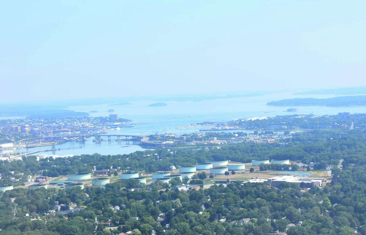 Portland, Maine, as seen from thoroughbred owner Lee Pokoik's plane on Tuesday, Aug. 1, 2017. (Photo by Steve Barnes/Times Union.)