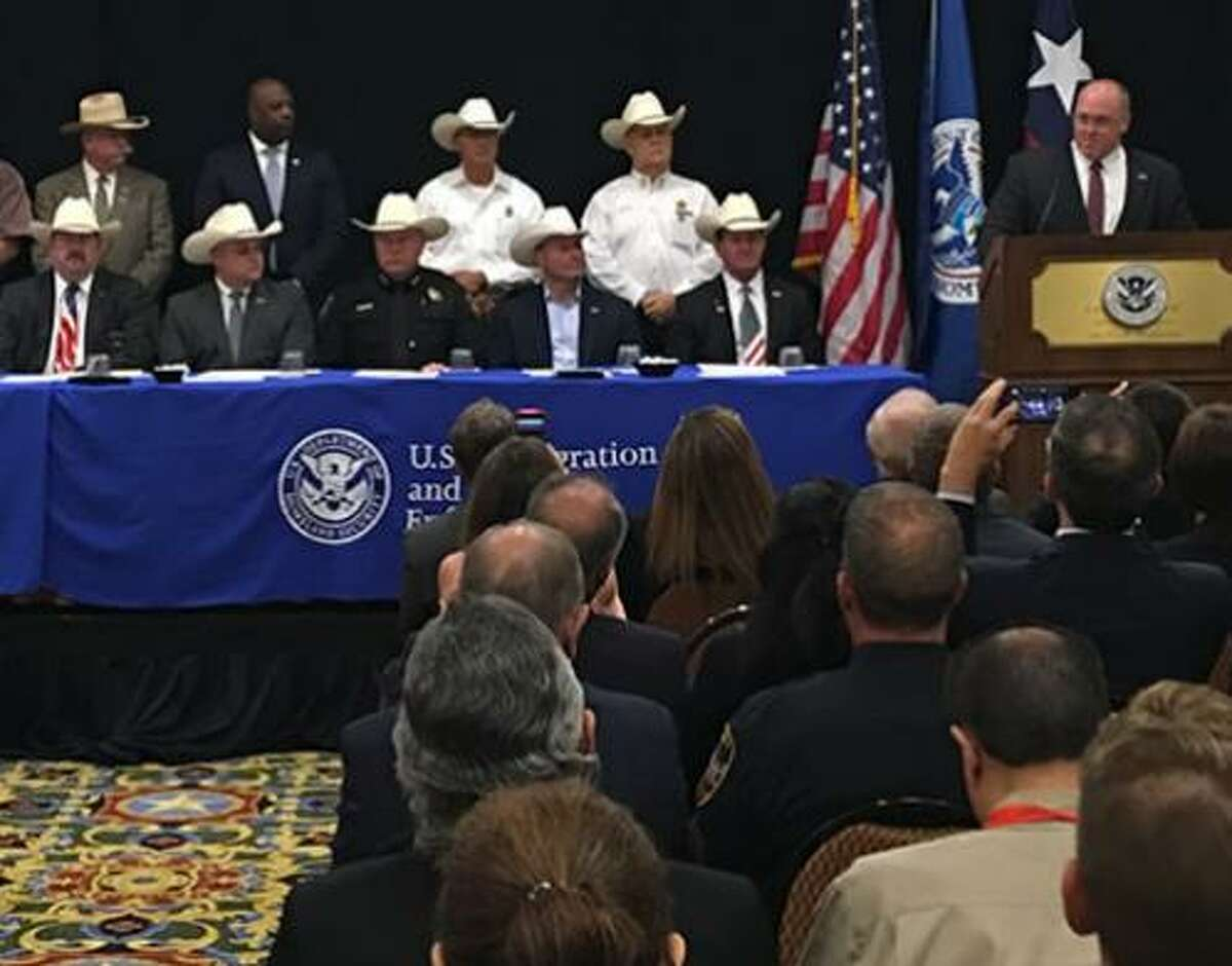 ICE photo of ceremony in Grapevine announcing expansion of 287(g) partnerships.