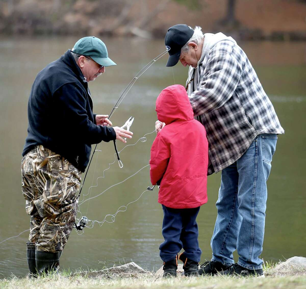 The first day of trout fishing season at Wharton Brook State Park in Wallingford on 4/8/2017. Photo by Arnold Gold/New Haven Register agold@newhavenregister.com