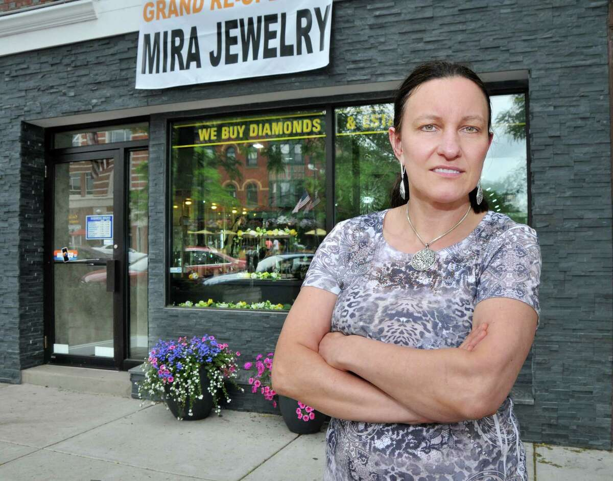 Catherine Avalone - The Middletown Press Mira Alicki, owner of Mira Jewelry Design at 476 Main Street in Middletown will hold a grand re-opening on June 13 at 5 p.m. after an extensive redesign of her store after 19 years in business.