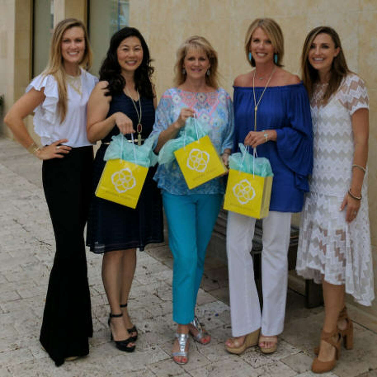 Fort Bend Education Foundation is partnering with Kendra Scott to celebrate the opening of a new store at First Colony Mall. The event will be 5-8 p.m. Aug. 9 for the fall 2017 Launch Party, of the Kendra Scott store, across from Black Walnut Cafe. From left are Kelli Hanson, store manager, Terri Wang, VP Fort Bend Education Foundation; Brenna Cosby, executive director, FBEF; Carol Evans, events coordinator FBEF and Hilary Wetmore; community relations manager, Kendra Scott.