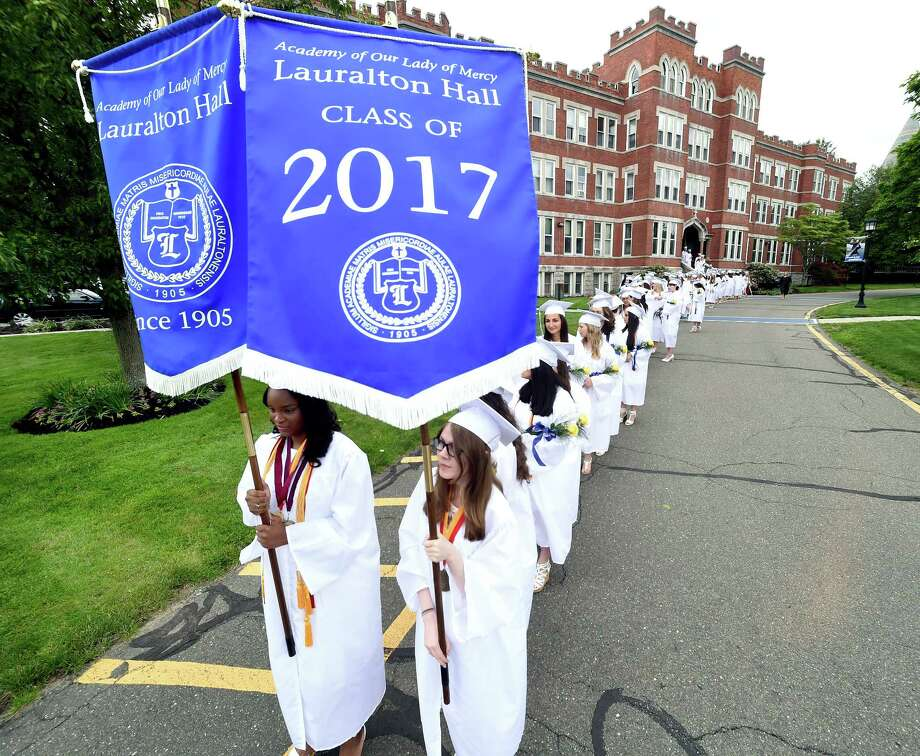 Lauralton Hall Commencement Exercises in Milford on 6/3/2017.  Photo by Arnold Gold/New Haven Register  agold@newhavenregister.com