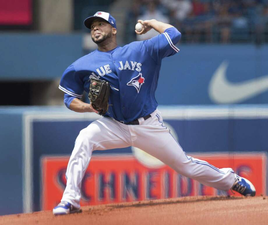 The Astros made one swap at the MLB's trade deadline landing Blue Jays starting pitcher Francisco Liriano (6-5, 5.88 ERA) for two outfielders including Norichika Aoki and prospect Teoscar Hernandez. Photo: Fred Thornhill /Associated Press / The Canadian Press