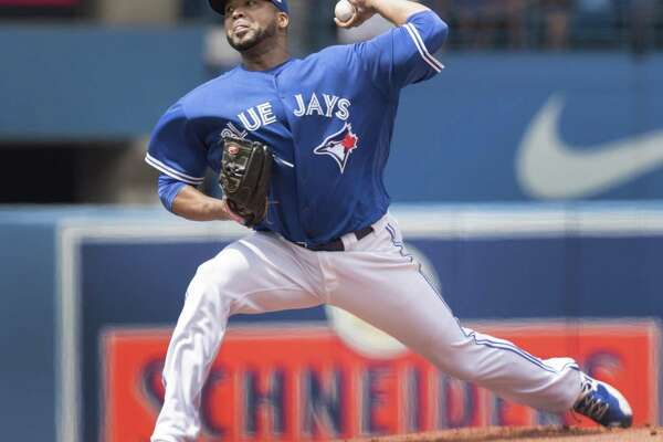 The Astros made one swap at the MLB's trade deadline landing Blue Jays starting pitcher Francisco Liriano (6-5, 5.88 ERA) for two outfielders including Norichika Aoki and prospect Teoscar Hernandez.