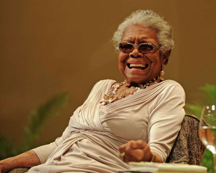 Dr. Maya Angelou speaks on race relations at Congregation B'nai Israel and Ebenezer Baptist Church on January 16, 2014 in Boca Raton, Florida. Photo: Jeff Daly, Jeff Daly/Invision/AP / Invision2014