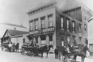 Anchor Brewery, 1906, on Pacific Avenue between Larkin and Hyde Street.